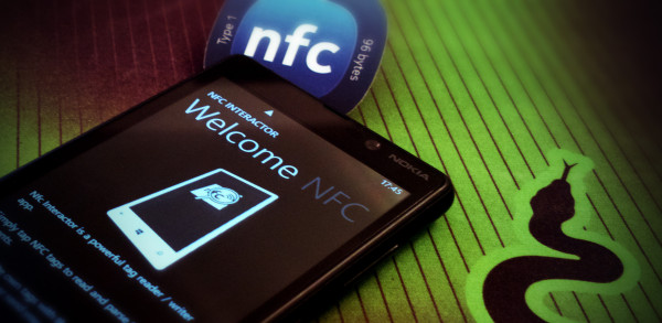 NFC interactor running on the Nokia Lumia 820