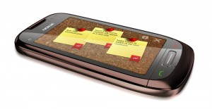 Nfc Corkboard running on the Nokia C7