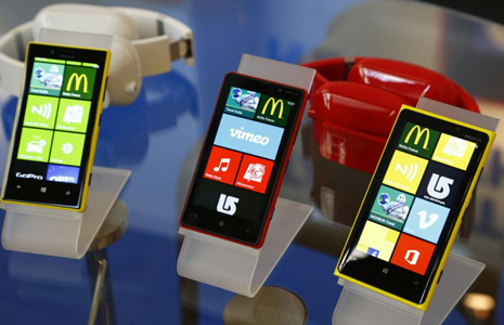 Nokia Lumia phones at WIMA NFC in Monaco