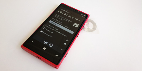 NFC interactor - Live Tile