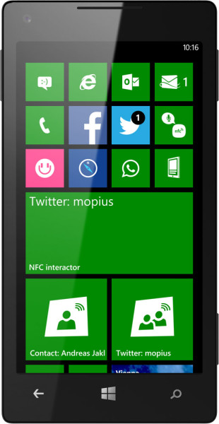 NFC interactor 6.2 - Large Live Tiles