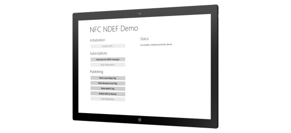 NDEF Library Windows 8 Demo App