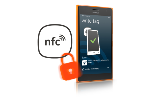 Lock NFC Tags with NFC interactor on Windows Phone